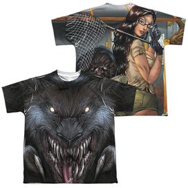 Zenoscope Werewolf (Front Back Print) Short Sleeve Youth Poly Crew T-Shirt