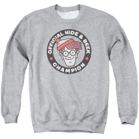Wheres Waldo Champion Adult Crewneck Sweatshirt Athletic