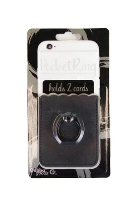 PocketRing with Kickstand and Secure Hook [Black]