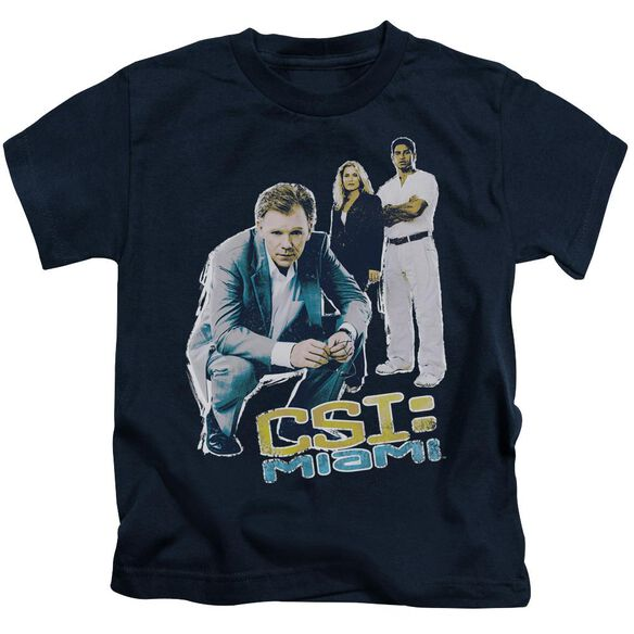 Csi:Miami In Perspective Short Sleeve Juvenile Navy Md T-Shirt