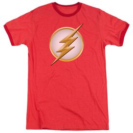 Flash New Logo Adult Heather Ringer Red