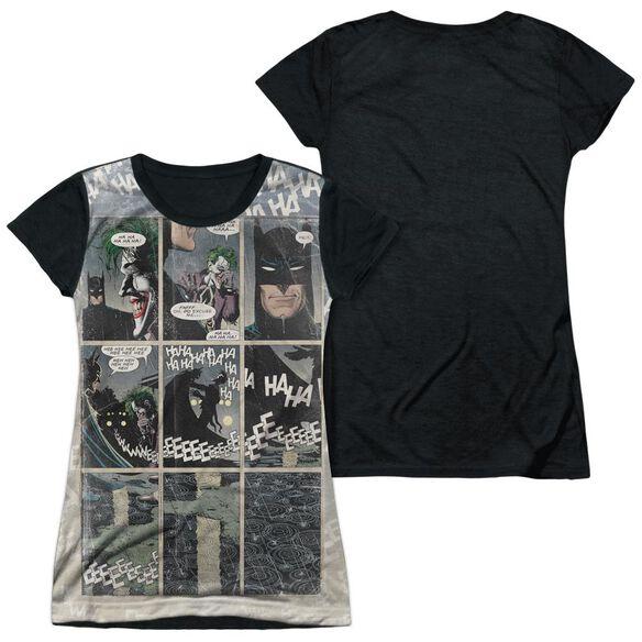 Batman Last Laugh Short Sleeve Junior Poly Black Back T-Shirt