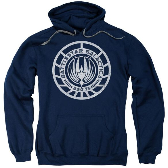 Bsg Scratched Bsg Logo Adult Pull Over Hoodie