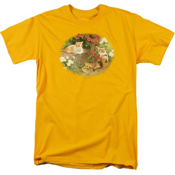 Wildlife Kittens And Mums Short Sleeve Adult T-Shirt