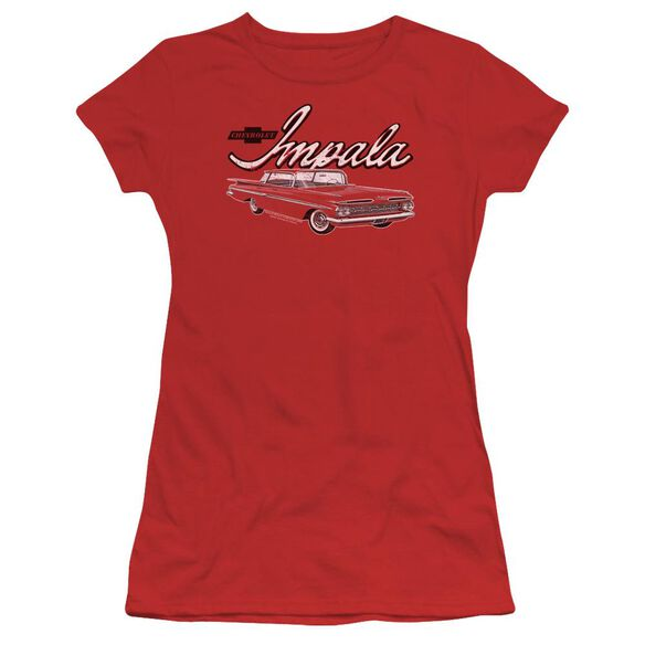 Chevrolet Classic Impala Short Sleeve Junior Sheer T-Shirt