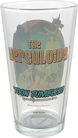 Herculoids Group Toon Tumbler Pint Glass