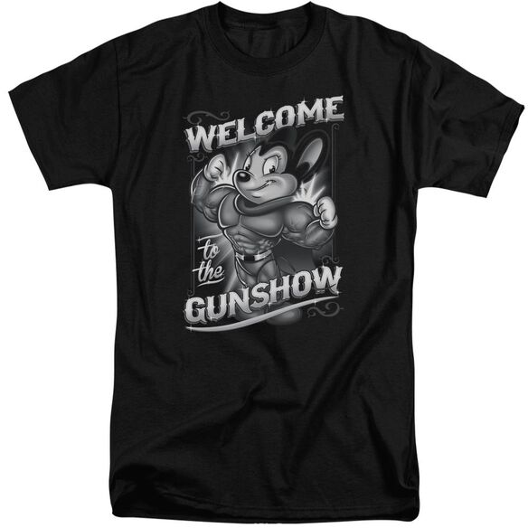 Mighty Mouse Mighty Gunshow Short Sleeve Adult Tall T-Shirt
