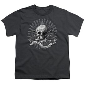 Here There Be Pirates Short Sleeve Youth T-Shirt