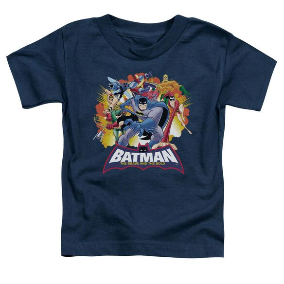 Batman Bb Explosive Heroes Short Sleeve Toddler Tee Navy Lg T-Shirt