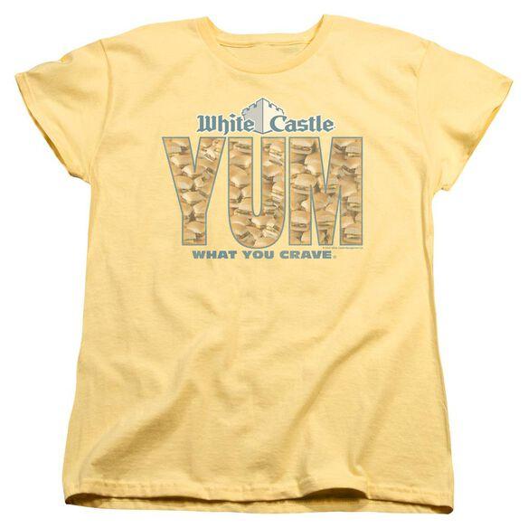 WHITE CASTLE YUM - S/S WOMENS TEE - BANANA T-Shirt