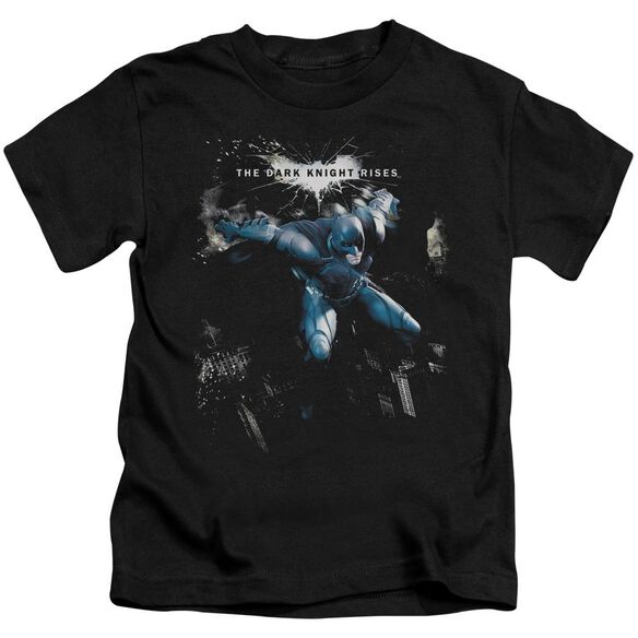 Dark Knight Rises What Gotham Needs Short Sleeve Juvenile Black T-Shirt