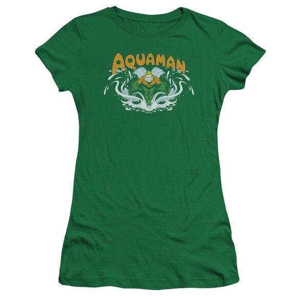 Dc Aquaman Splash Premium Bella Junior Sheer Jersey Kelly