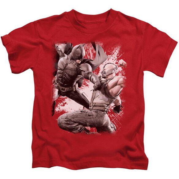 Dark Knight Rises Final Fight Short Sleeve Juvenile Red T-Shirt