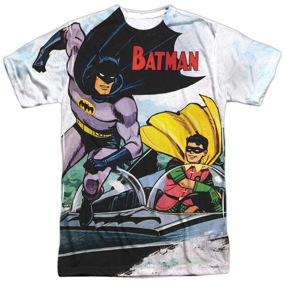 Batman Batboat Short Sleeve Adult Poly Crew T-Shirt