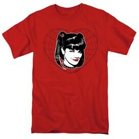NCIS ABBY HEART-S/S ADULT 18/1 - RED T-Shirt