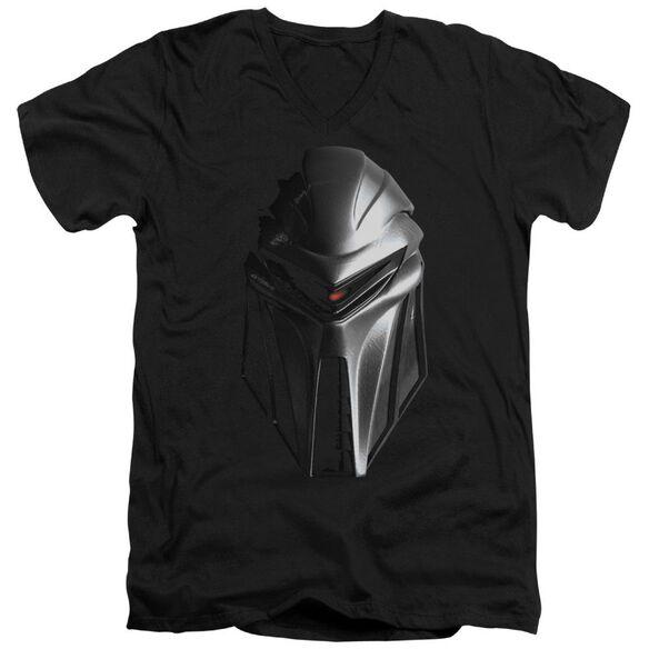 BSG CYLON HEAD - S/S ADULT V-NECK - BLACK T-Shirt