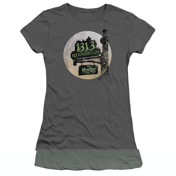 The Munsters Moonlit Address Short Sleeve Junior Sheer T-Shirt