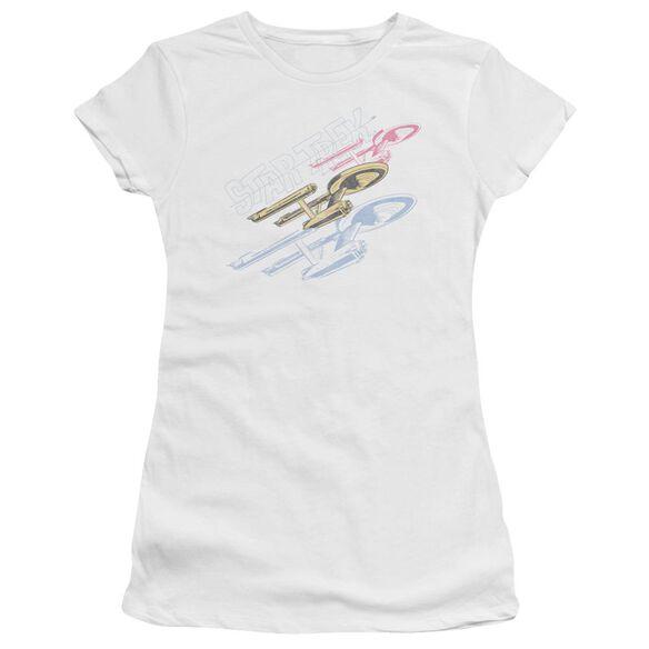 Star Trek Retro Tri Enterprise Short Sleeve Junior Sheer T-Shirt