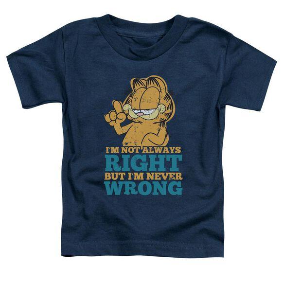 Garfield Never Wrong Short Sleeve Toddler Tee Navy Md T-Shirt