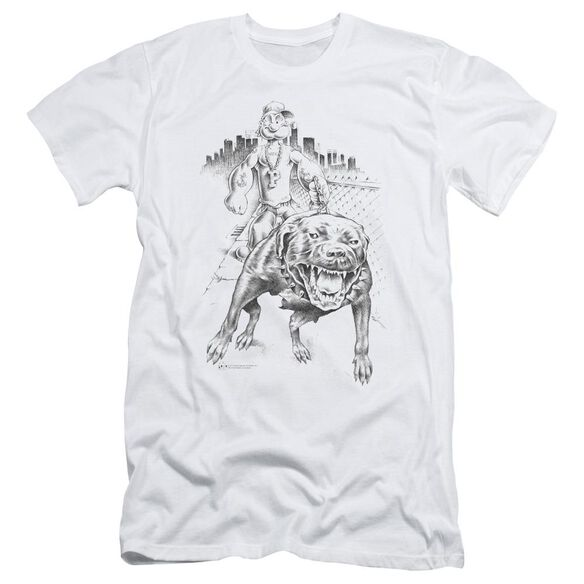 POPEYE WALKING THE DOG - S/S ADULT 30/1 - WHITE T-Shirt