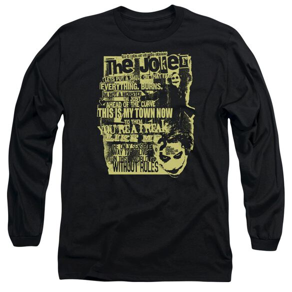 Dark Knight Quote Me On It Long Sleeve Adult T-Shirt