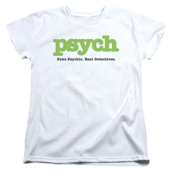Psych Title Short Sleeve Womens Tee T-Shirt