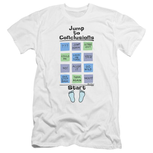 Office Space Jump To Conclusions Premuim Canvas Adult Slim Fit