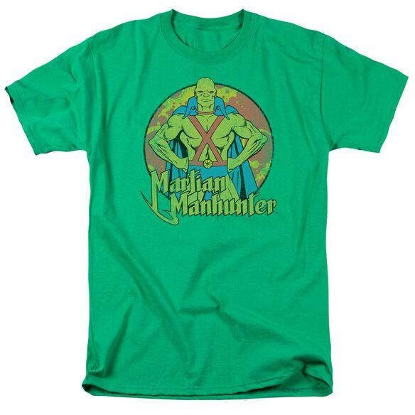 Dc Martian Manhunter Short Sleeve Adult Kelly T-Shirt