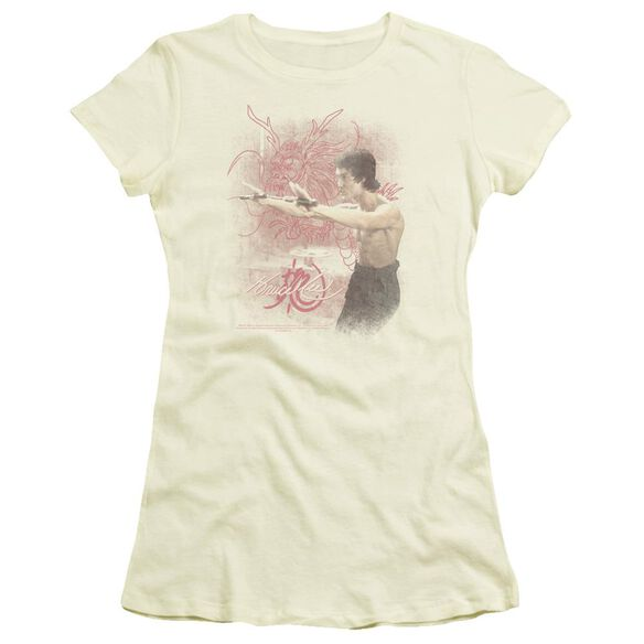 Bruce Lee Power Of The Dragon Short Sleeve Junior Sheer T-Shirt