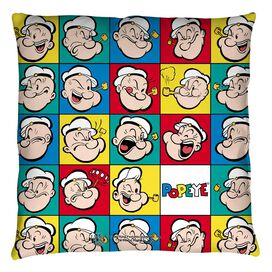 Popeye Many Moods Throw Pillow