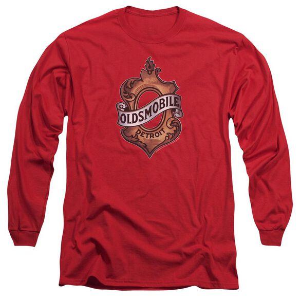 Oldsmobile Detroit Emblem Long Sleeve Adult T-Shirt