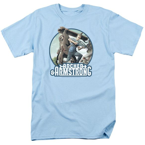 Archer & Armstrong Trunk And Crossbow Short Sleeve Adult Light T-Shirt