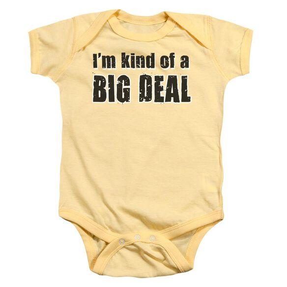 Big Deal Infant Snapsuit Banana Sm