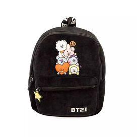 Line Friends BT21 Plush Mini Backpack - Tata, Van, Chimmy, Cooky, Shooky and RJ