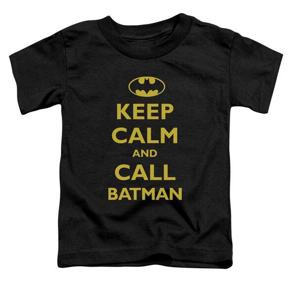 BATMAN CALL BATMAN - S/S TODDLER TEE - BLACK - T-Shirt