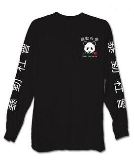 Riot Society Panda Rose Long Sleeve T-Shirt