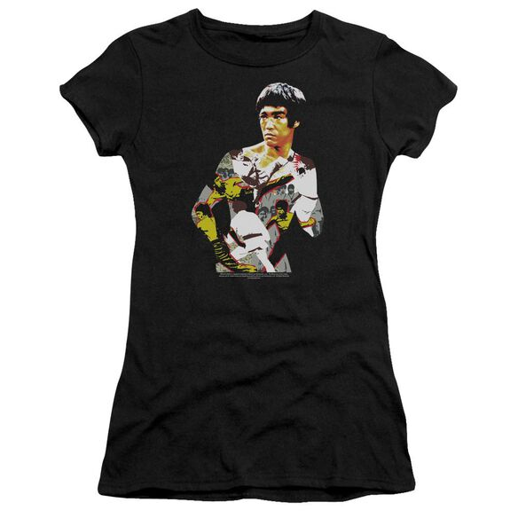 Bruce Lee Body Of Action Short Sleeve Junior Sheer T-Shirt