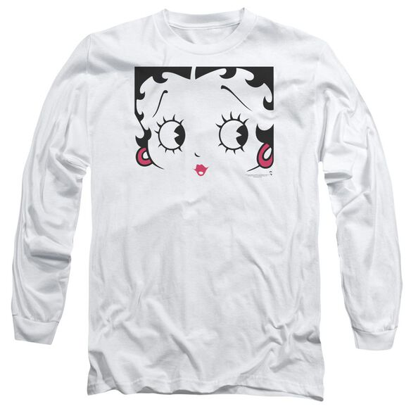 Betty Boop Close Up Long Sleeve Adult T-Shirt