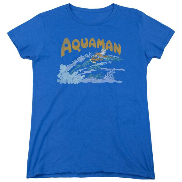 Dc Aqua Swim Short Sleeve Womens Tee Royal T-Shirt