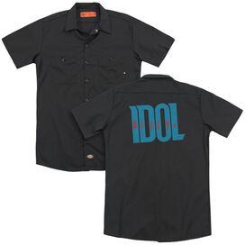 Billy Idol Logo(Back Print) Adult Work Shirt