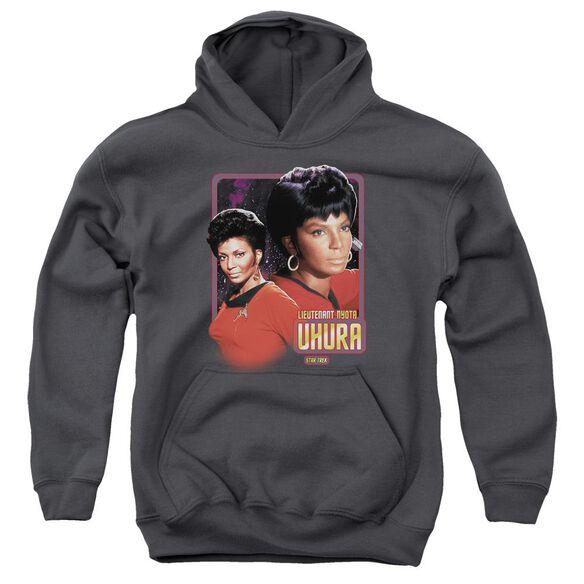 Star Trek Lieutenant Uhura-youth Pull-over Hoodie - Charcoal