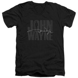 John Wayne Silhouette Sig Short Sleeve Adult V Neck T-Shirt