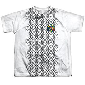 Rubiks Cube One Colored Short Sleeve Youth Poly Crew T-Shirt