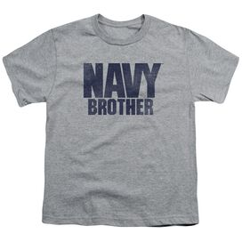Navy Brother Short Sleeve Youth Athletic T-Shirt