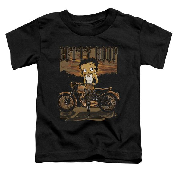 Betty Boop Rebel Rider Short Sleeve Toddler Tee Black Md T-Shirt
