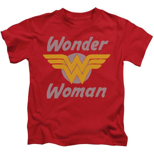 Dc Wonder Wings Short Sleeve Juvenile Red Md T-Shirt