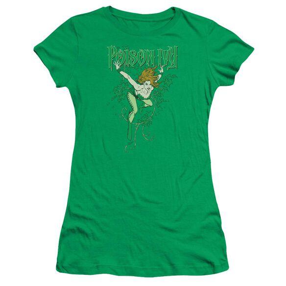 Dc Poison Ivy Short Sleeve Junior Sheer Kelly T-Shirt