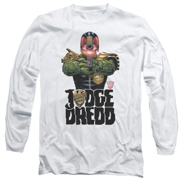 Judge Dredd In My Sights Long Sleeve Adult T-Shirt