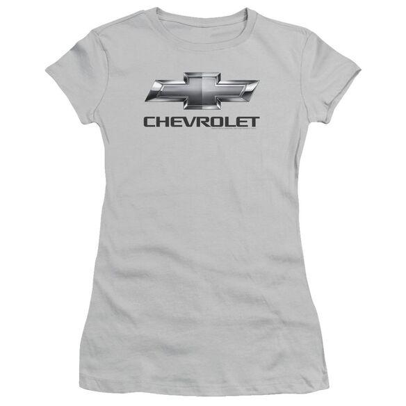 Chevrolet Chevy Bowtie Short Sleeve Junior Sheer T-Shirt