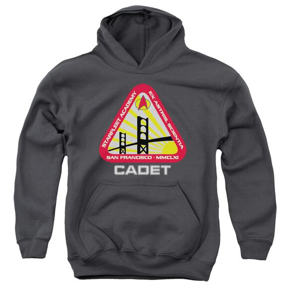Star Trek Starfleet Cadet-youth Pull-over Hoodie - Charcoal